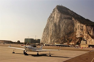 The famous Gibraltar Rock. The wind blowing over it creates dangerous turbulence. OK-LEX. Photo: Jiri Prusa